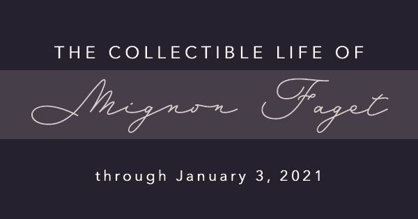 Mignon exhibit website banner
